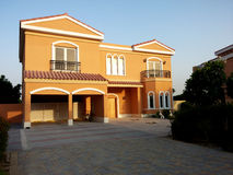 Villas from road view Royalty Free Stock Images