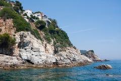 Villas on sea coast Stock Photo