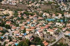 Villas sur le Blanca de côte Images stock