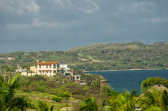 Villas sur les falaises, Punta Mita, Mexique Photo stock