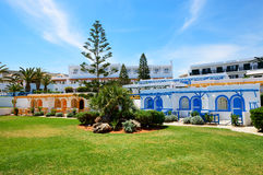 Villas in traditional Greek style at luxury hotel Stock Photography