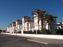 Villas at Vera Playa. Villas on the Spanish coast at Vera Playa Royalty Free Stock Image