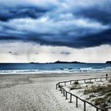 Villasimius för ö för sandstrandhav Royaltyfri Fotografi