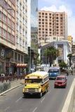Villazon aveny i La Paz, Bolivia Arkivfoto