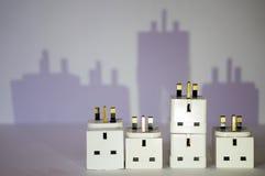 Ville électrique Images libres de droits