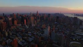 ville aérienne New York clips vidéos