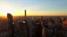ville aérienne New York banque de vidéos