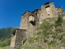 Ville abandonnée de montagne Photographie stock libre de droits