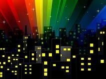 Ville abstraite de nuit Images stock