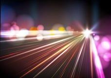 Ville abstraite de nuit Image libre de droits