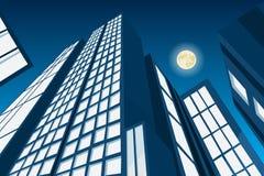 Ville abstraite de vecteur par nuit illustration de vecteur