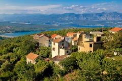 Ville adriatique de vue de Dobrinj Photo stock