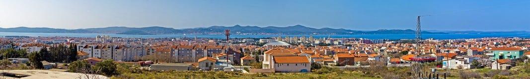 Ville adriatique de vue panoramique de Zadar Image libre de droits