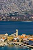 Ville adriatique idyllique de Vinjerac Image libre de droits