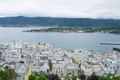 Ville Alesund d'en haut Photo stock