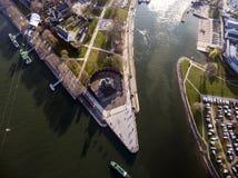 Ville Allemagne de Coblence avec le coin allemand historique 4 Photographie stock libre de droits