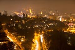 Ville Allemagne de Siegen la nuit Image libre de droits