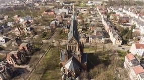 Ville Allemagne de vue aérienne de Zwickau vieille photographie stock libre de droits