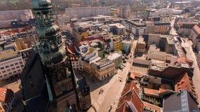 Ville Allemagne de vue aérienne de Zwickau vieille photo libre de droits