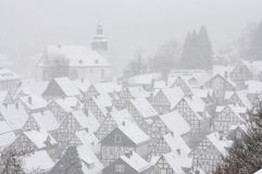Ville allemande en hiver image libre de droits