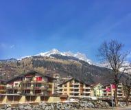 Ville alpine étrange Images libres de droits