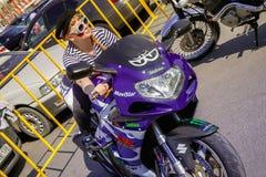 ville Angarsk baikers- 26 de moto Photo stock