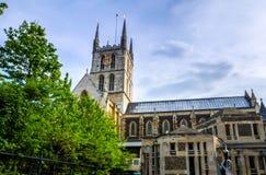 Ville/Angleterre de Londres : Vue sur la cathédrale de Southwark à Londres images libres de droits