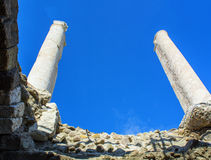 Ville antique d'agora d'Izmir Photo stock