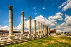 Ville antique d'agora, Izmir Image libre de droits