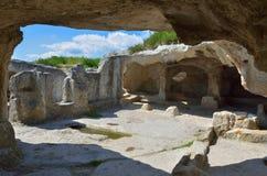 Ville antique d'Eski-Kermen Images libres de droits