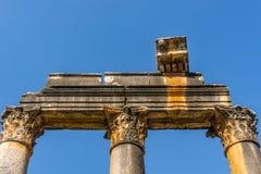 Ville antique d'Euromos Euromus Route de Soke - de Milas, Mugla, Turquie Le temple de Zeus Lepsynos a été construit au 2ème siècl photo libre de droits
