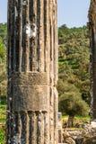 Ville antique d'Euromus ou d'Euromos Temple de Zeus Lepsinos Milas, Mugla, Turquie Kyromos, Hyromos Traduction de : consacr? photos stock