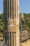 Ville antique d'Euromus ou d'Euromos Temple de Zeus Lepsinos Milas, Mugla, Turquie Kyromos, Hyromos Traduction de : consacr? images libres de droits