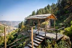 Ville antique dans les cavernes de Khndzoresk photographie stock