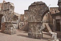 Ville antique dans une étape de film Photo stock