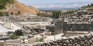 Ville antique de Beit Shean en Israël images stock