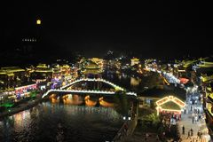 Ville antique de Fenghuang Images stock