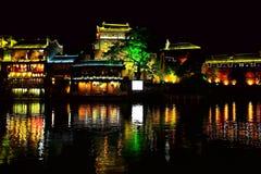 Ville antique de Fenghuang, comme ville historique et culturelle nationale, la première série de comtés de touristes forts en Chi image libre de droits