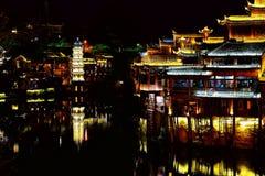 Ville antique de Fenghuang, comme ville historique et culturelle nationale, la première série de comtés de touristes forts en Chi images libres de droits