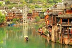 Ville antique de Fenghuang, comme ville historique et culturelle nationale, la première série de comtés de touristes forts en Chi photo libre de droits