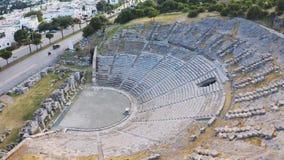 Ville antique de Halicarnassus Amphithéâtre dans la station touristique de Bodrum Longueur a?rienne clips vidéos