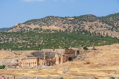 Ville antique de ville antique de Hierapolis Photo stock