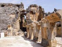 Ville antique de Hierapolis, Pamukkale, Turquie images stock