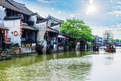 Ville antique de Jiang Jiangnan dans la province de Xitang Image libre de droits