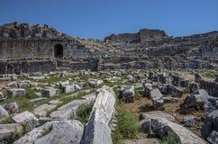 Ville antique de la Turquie Milet photographie stock