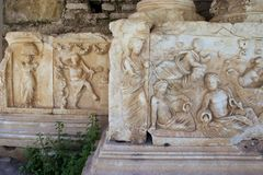 Ville antique de Nysa dans Aydin, Turquie Photo stock