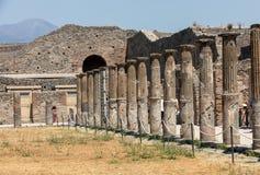 Ville antique de Pompeii, Italie image stock