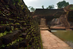 Ville antique de Sigiriya images libres de droits