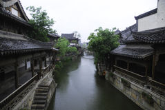 Ville antique de Taierzhuang Images libres de droits
