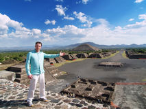 Ville antique de Teotihuacan Photos libres de droits